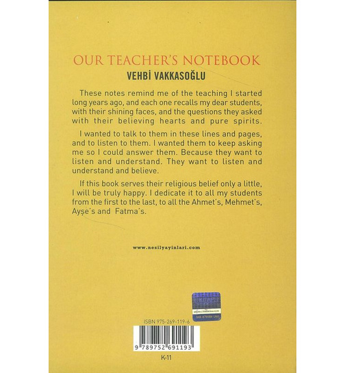 Our Teacher`S Notebook